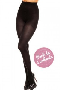 Vital 70, Pack de 3 Collants Maintien Opaque noir