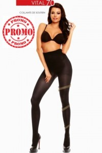 Collant maintien vital 70 noir