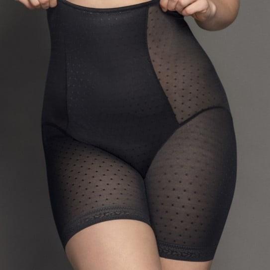 Culotte Gainante Taille haute Femme Grande Taille avec Jambes longues du 40 au 58 couleur Noire Meghan